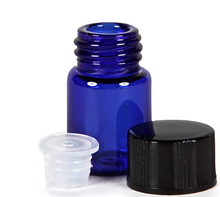 LanJing 2ml 5/8 Dram Blue Essential Oil Bottle with Orifice Reducer
