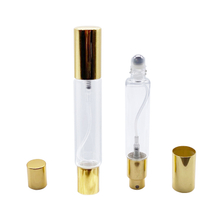 LanJing China Supplier Clear Amber Frosted Double End Glass Bottle With Glass Ball