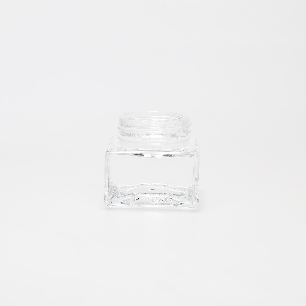 LanJing 5g 10g 15g 20g 30g 50g 100g Squre Glass Cream Jars with Lids Glass Cosmetic Jars